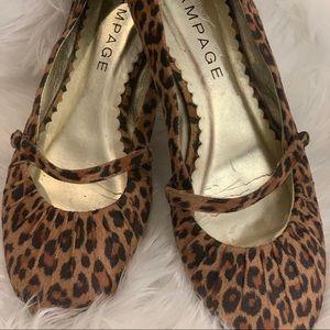 Rampage size 7.5 women's flats leopard print